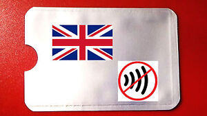 RFID NFC credit contactless card protector blocking scan shield UK