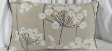 "John Lewis 12 x 20"" Cushion Cover CORRINGE Natural same fabric on the back & Zip"