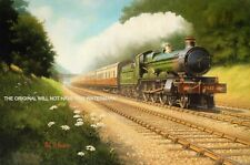 More details for magnifcent mounted picture gwr saint gabriel train sonning cutting reading 1920s
