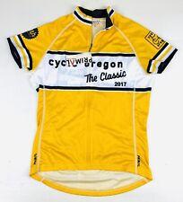 Primal Cycle Oregon Cycling Jersey Womens Sz Medium Yellow Full Zip Classic 2017