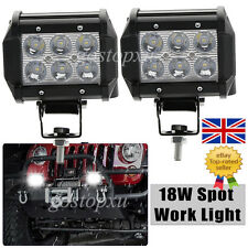 2x 18W CREE LED Work Fog Head Light Bar Flood Offroad Truck ATV SUV Car Driving