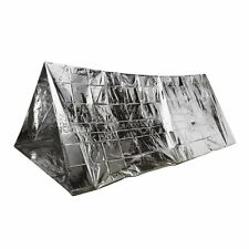 FOIL SPACE THERMAL EMERGENCY 2 PERSON TENT BLANKET SLEEPING BAG FIRST AID RESCUE