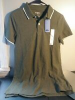 Goodfellow & Co Late Night Green Golf Polo Collared No Roll Shirt Size Small NWT