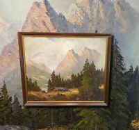 ADOLF WEGENER (*1891 Berlin) Alpspitze und Werdenfelser Land. Original Ölgemälde