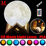 USB Moon Lamp Night Light 3D Print Moonlight LED Dimmable Touch/Pat/Remote PLA