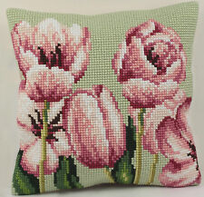 Collection D'Art Cross Stitch Cushion Kit: Tulip (left) CD5069