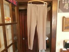 Nautica men's dress pants light brown tan 32W 30L wool blend nice designer wear