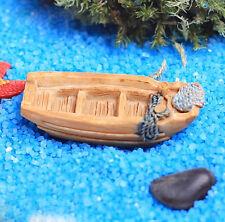 New listing 1x Micro landscape Resin Mini Boat ship Diy Ornament Fairy Garden Decor 2*4.5cm