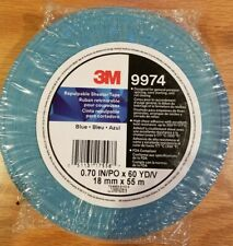 3M Blue Repulpable Sheeter Tape 9974, .70 inch x 60 yards