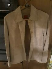 brand new esprit beigh full lenght suede jacket fine detailquality.womans xl