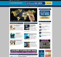 NETWORK MARKETING  WEBSITE & AFFILIATE STORE - DOMAIN - FREE HOSTING