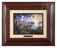 Thomas Kinkade Disney's Pinocchio Framed Brushwork (Brandy Frame)