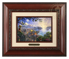 Thomas Kinkade Disney's Pinocchio Framed Brushwork (Brandy Frame)