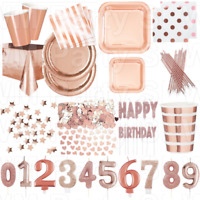 Rose Gold Foil Birthday Party Supplies Tableware Decorations Balloons