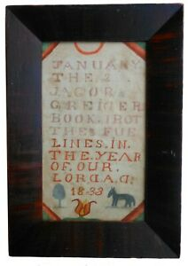 AAFA Dated 1833 ***MUST READ*** Folk Art Country Primitive Fraktur