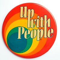 VTG Up with People UWP Performing Arts Multi-Cultural Tolerance Pin-back Button