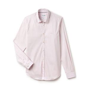 Lacoste CH9628 Slim Fit Stretch Cotton Poplin Shirt, Pink -