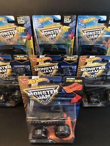 hot wheels Monster Jam Blackout Trucks Lot of 7