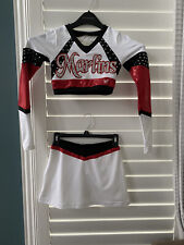 Cheerleading Team Uniforms - White, Red, Black, 17 Of These Are Available.