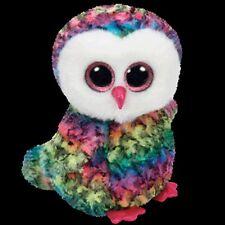 TY Beanie Boos Regular - OWEN The Multicoloured Owl - NEW