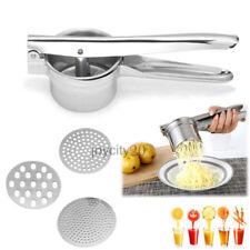 Kartoffelpresse Spätzlepresse Spaghettieispresse mit 3 Locheinsätzen Koch Hilfer