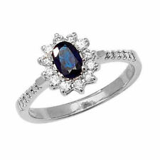 Anillos de joyería con diamantes en oro blanco diamante esmeralda