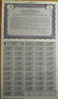 'Oil Shares Incorporated' Giant 1929 SPECIMEN UK Stock/Bond Certificate - Purple