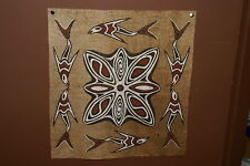 Rare Tapa Kapa Sentani Bark Cloth Abstract Fish Waves Authentic Tribal Art 39