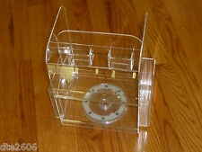 Clear Acrylic Rotating Display with places for Literature and Product