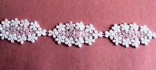 4.5y Beautiful Venise Lace Ivory Daisy Chain Applique Baby #1030
