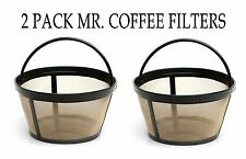 2 PACK Mr. Coffee GTF2 Basket Style 10-12 Cup Gold Tone Permanent Coffee Filter