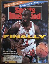 "June 3, 1991 Michael Jordan Chicago Bulls Sports Illustrated ""Finally"" Original"