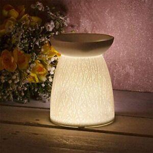 Wax Melt Oil Warmer Burner Ceramic Woodland Tealight Holder Light Indoor Outdoor
