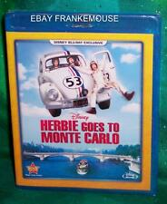 NEW DISNEY MOVIE CLUB EXCLUSIVE HERBIE GOES TO MONTE CARLO BLU RAY MOVIE 1977