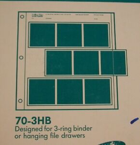 Print File 25 Sheets of 70-3HB for 70mm Film Type Stripes - New Old Stock