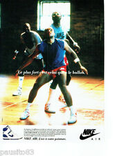 PUBLICITE ADVERTISING 086  1987  Baskets Nike Air Force High