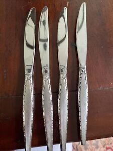 """4 Oneida Community VENETIA Stainless DINNER KNIVES 9 1/8"""""""