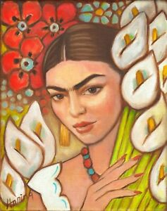Frida Kahlo 8 Frida among the lillies Movie Poster Canvas Picture Art