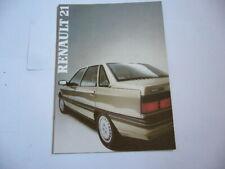 Catalogue brochure publicite prospectus RENAULT 21 (87)