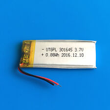 3.7V Lipo Polymer Battery Cells 250mAh For MP3 GPS PSP Headset Bluetooth 301645