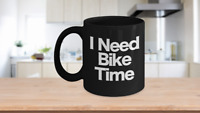 Bike Mug Black Coffee Cup Gift for Grandpa, Dad, Papa, Cyclist, Biker, Rider