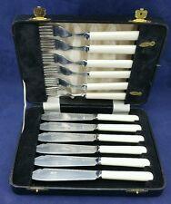 Cased set of Stainless Steel fish knives & forks for six, poss Melamine handles