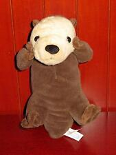 "EUC 10"" Wild Republic SEA OTTER Plush Stuffed Animal K&M International Brown Toy"