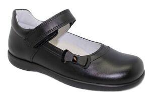 Bo-Bell Olimpia Black Leather School Shoe - F Width