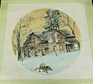 Debbi Chan saccomanno Hand Painted Watercolor Scroll Boarded Up Memories