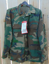 U.S. Woodland Camo Combat Aircrew Aramid Coat Size Medium/Large,good used cond.