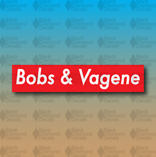 "Bobs & Vagene SEND NUDES Supreme Funny MEME 4"" Custom Vinyl Decal Sticker JDM"