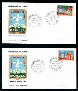 Chad - 1967 Idaho World Scout Jamboree on 2 x First Day Covers