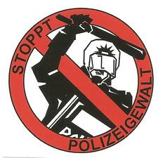 25 Stoppt Polizeigewalt Aufkleber Ultras Ultra Punk Hool Fußball Hooligan ACAB