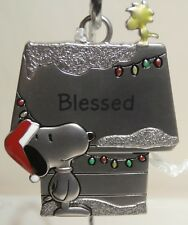 Hallmark Peanuts Snoopy & Woodstock Metal Ornament - Blessed - New
